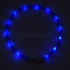 Kép 3/8 - Közepes világító LED-es nyakörv / méretre vágható, USB-s