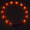 Kép 5/8 - Közepes világító LED-es nyakörv / méretre vágható, USB-s