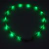 Kép 6/8 - Nagy világító LED-es nyakörv / méretre vágható, USB-s
