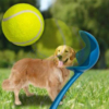 Kép 2/3 - Labdahajító játék kutyáknak / labdával
