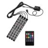 Kép 2/3 - USB-s színváltós RGB LED lábtérvilágítás autóba / távirányítóval