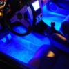 Kép 1/3 - USB-s színváltós RGB LED lábtérvilágítás autóba / távirányítóval