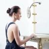 Kép 1/6 - Flexibilis kozmetikai tükör tapadókoronggal, 10-szeres nagyítással