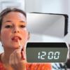 Kép 1/3 - Kis tükrös LED ébresztőóra hőmérővel