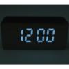 Kép 3/3 - Kis tükrös LED ébresztőóra hőmérővel