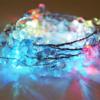 Kép 1/3 - Gyöngy dekor led füzér / hangulatvilágítás – 180 cm