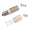 Kép 2/2 - Mini ledes kerámiatestű izzó E14 foglalatba - hideg fehér