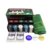 Kép 2/4 - Komplett póker készlet / filc játékfelület, 200 db zseton, 2 pakli kártya