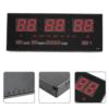 Kép 3/3 - Nagy LED kijelzős digitális óra naptárral, hőmérővel és ébresztővel