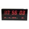 Kép 2/3 - Nagy LED kijelzős digitális óra naptárral, hőmérővel és ébresztővel