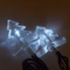 Kép 1/5 - Hideg fehér, napelemes karácsonyi fényfüzér fenyőfa alakú LED izzókkal / fényérzékelővel, kültérre, 6 méter