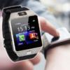 Kép 1/4 - Okosóra kártyafüggetlen SIM foglalattal és kamerával / Bluetooth SmartWatch - fekete