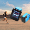 Kép 1/5 - Érintőkijelzős okosóra / pulzus- és vérnyomásmérő Bluetooth SmartWatch, kék