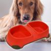Kép 1/4 - Dupla etető- és itatótál kutyáknak / gumitalppal