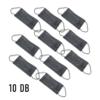 Kép 3/3 - 3 rétegű szájmaszk / 10 darabos / fekete színben
