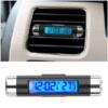 Kép 1/5 - Autós hőmérő és óra / szellőzőrácsba rögzíthető