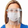 Kép 1/6 - Szemüvegkeretes, műanyag arcvédő pajzs / átlátszó arcmaszk