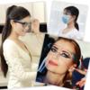 Kép 4/6 - Szemüvegkeretes, műanyag arcvédő pajzs / átlátszó arcmaszk