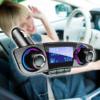 Kép 1/4 - Autórádió formájú Bluetooth FM transzmitter LED kijelzővel
