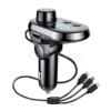 Kép 5/5 - Q15 autós Bluetooth FM transzmitter / zenelejátszó, kihangosító és töltő