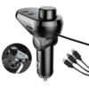 Kép 3/5 - Q15 autós Bluetooth FM transzmitter / zenelejátszó, kihangosító és töltő