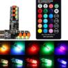 Kép 1/3 - T10 távirányítós RGB LED világítás autóba / szilikonos