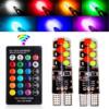 Kép 2/3 - T10 távirányítós RGB LED világítás autóba / szilikonos