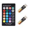 Kép 3/3 - T10 távirányítós RGB LED világítás autóba / szilikonos