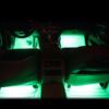 Kép 5/5 - Szivargyújtós LED lábtérvilágítás autóba / 4x9 leddel, távirányítóval