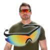 Kép 1/4 - Taktikai sportnapszemüveg / Vezetést segítő szemüveg polarizált lencsékkel