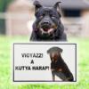 Kép 1/3 - Vigyázz! A kutya harap! - Figyelmeztető tábla