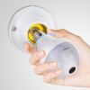 Kép 1/3 - WiFi biztonsági kamera E27-es foglalatba / rejtett, éjjellátó, mozgásérzékelő, 360°-ban lát...