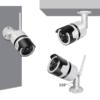 Kép 2/5 - F-6003-4 Mozgásérzékelős HD LED WiFi biztonsági kamera, Cloud funkcióval