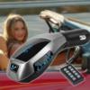 Kép 1/4 - X7 Bluetooth FM transzmitter / autós kihangosító és zenelejátszó távirányítóval