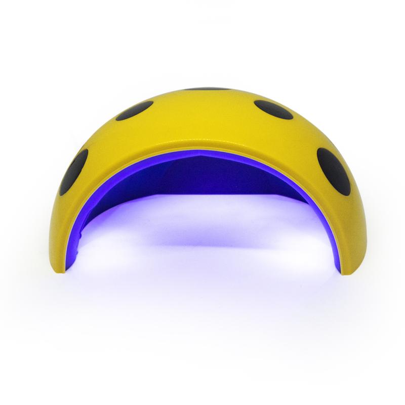 UV/LED műkörmös lámpa / 24W / Katicás / sárga