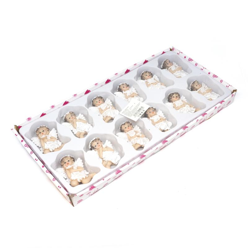 12 darabos hűtőmágnes készlet karácsonyi angyalokkal