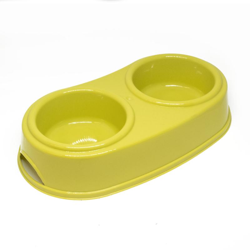 Kisállat etető- és itatótál, dupla kialakítás / műanyag