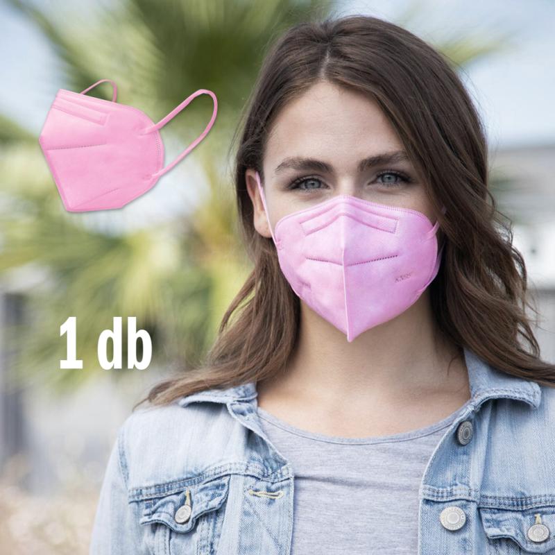 FFP2 légzésvédő egészségügyi arcmaszk (KN95) / rózsaszín / 1 db