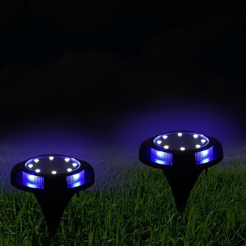 Dupla fényű, leszúrható, napelemes LED lámpa fényérzékelővel / 4 db