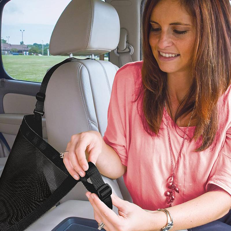 Autós rendszerező zsák és táskatartó - fekete