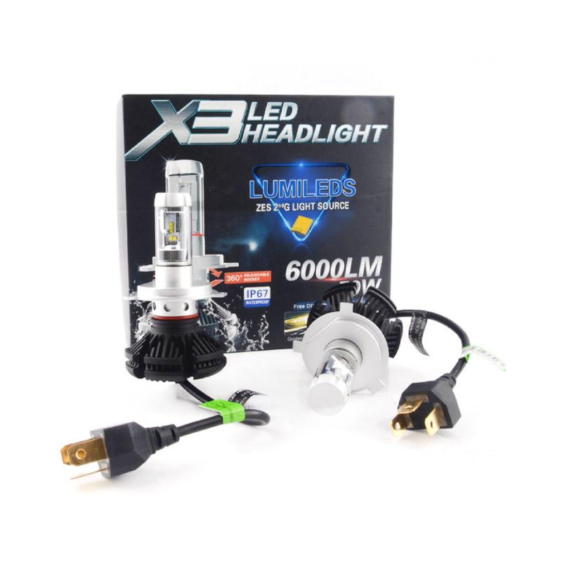 H7 X3 LED fényszóró szett / 1 pár, 25W, 6000 LM