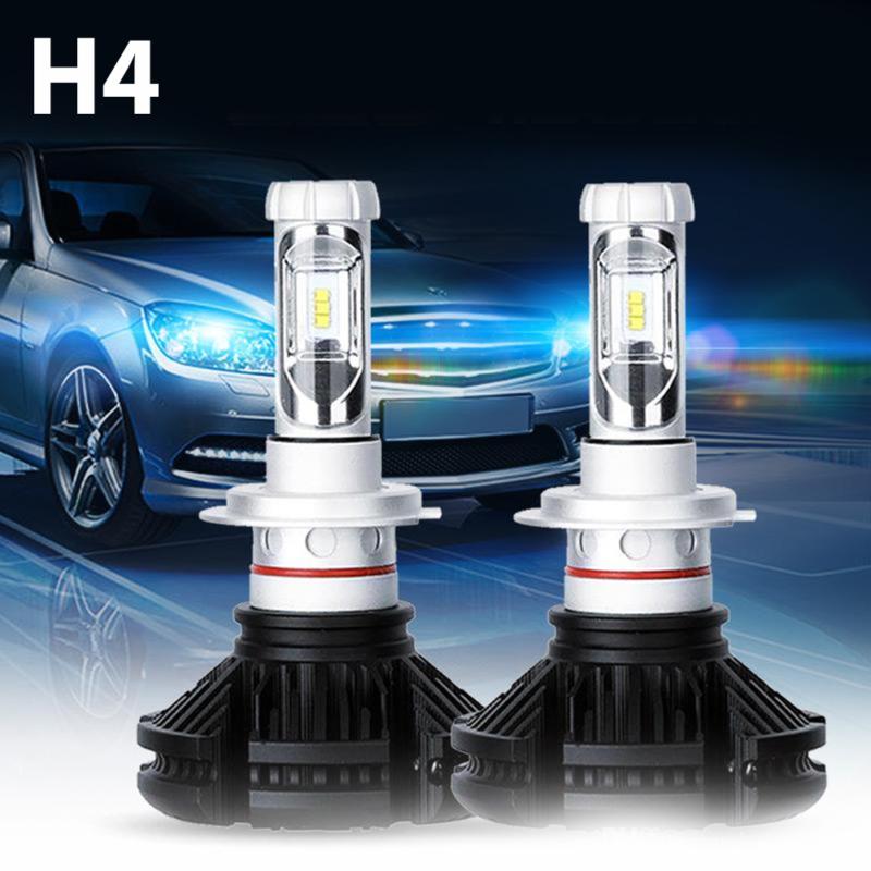 H4 X3 LED fényszóró szett / 1 pár, 25W, 6000 LM
