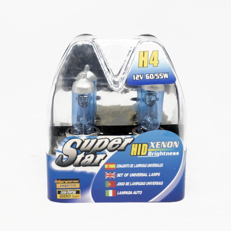 H4 Xenon hatású halogén izzó fényszóróba - 60/55W - kékes fényű, 2 db