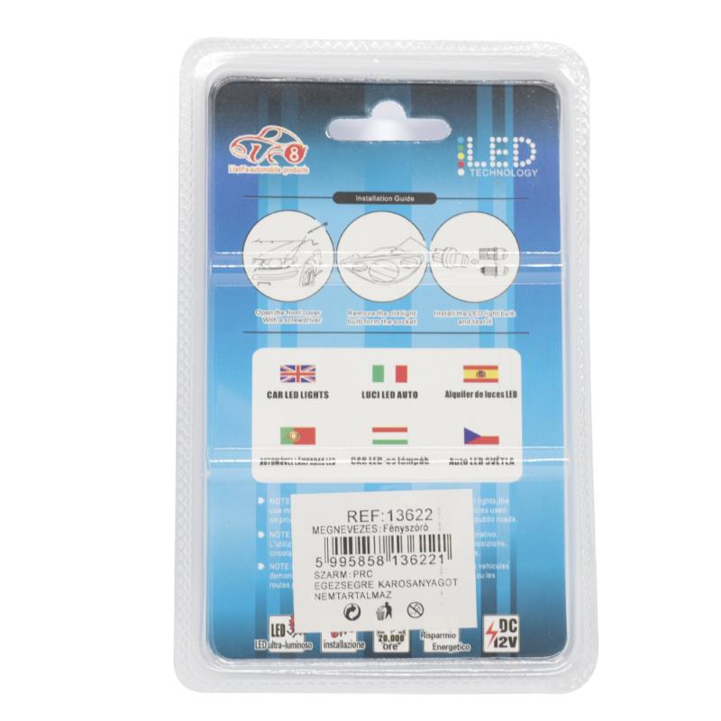 Autós beltéri LED izzó 12V - 36mm / 2 db, 9 LED, 300 Lumen (13622)