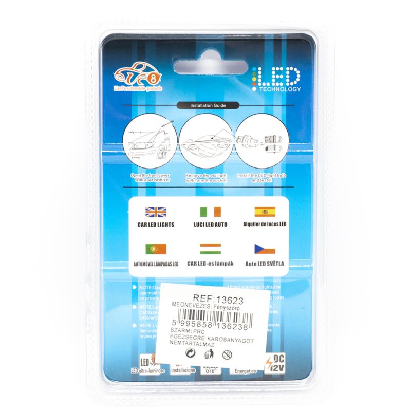 Autós beltéri LED izzó 12V - 39mm / 2 db, 9 LED, 300 Lumen (13623)
