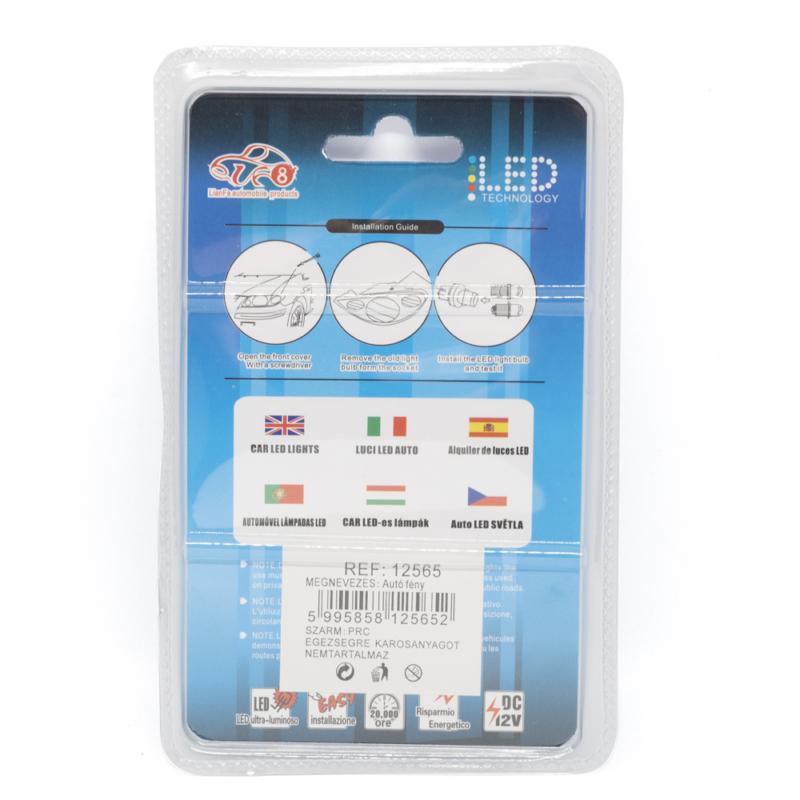 T10 Autós LED izzó - 12V / 2 db, 57 LED, 350 Lumen (12565)