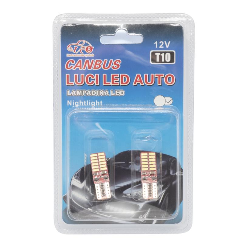 T10 Autós LED izzó - 12V / 2 db, 12 LED, 280 Lumen (12564)