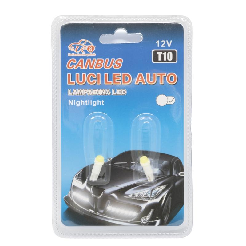 T10 Autós LED izzó 12V - 2db, 1 LED, 170 Lumen (11502)