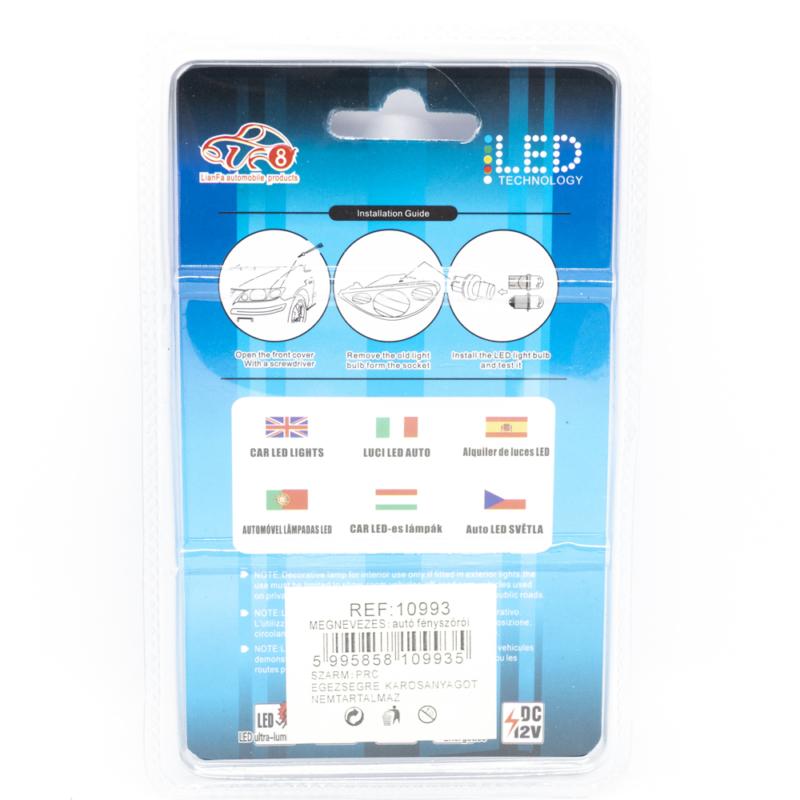 Autós LED izzó 12V - 36mm / 2 db, 3 LED, 65 Lumen (10993)