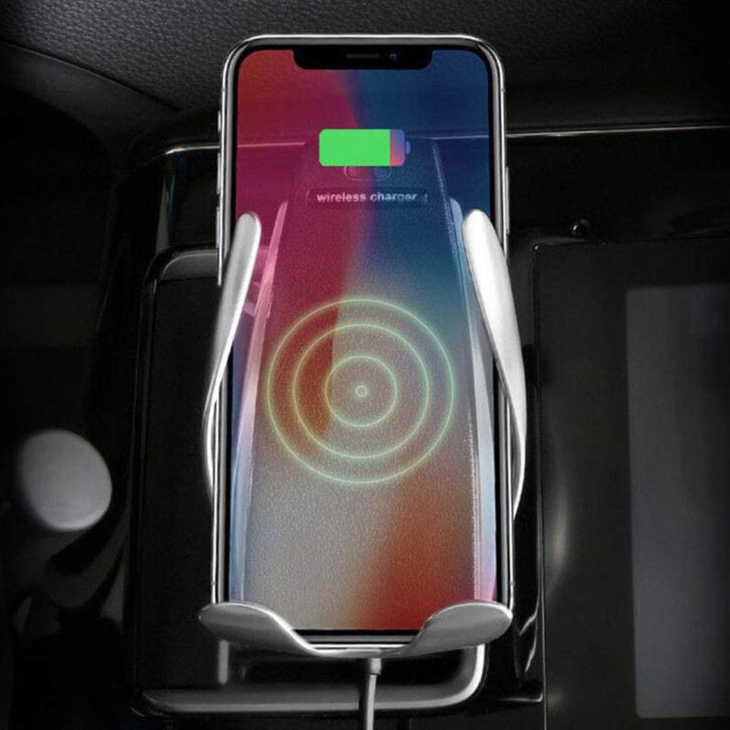 Okos autós telefontöltő és tartó – mozgásérzékelő szenzorral / szellőző rácsba illeszthető (S5)